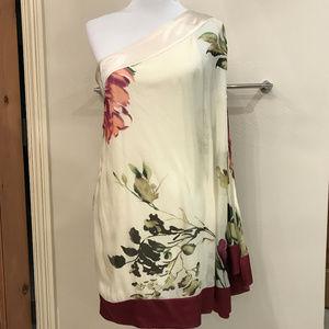 Gorgeous One-Shoulder Silk Dress - Med